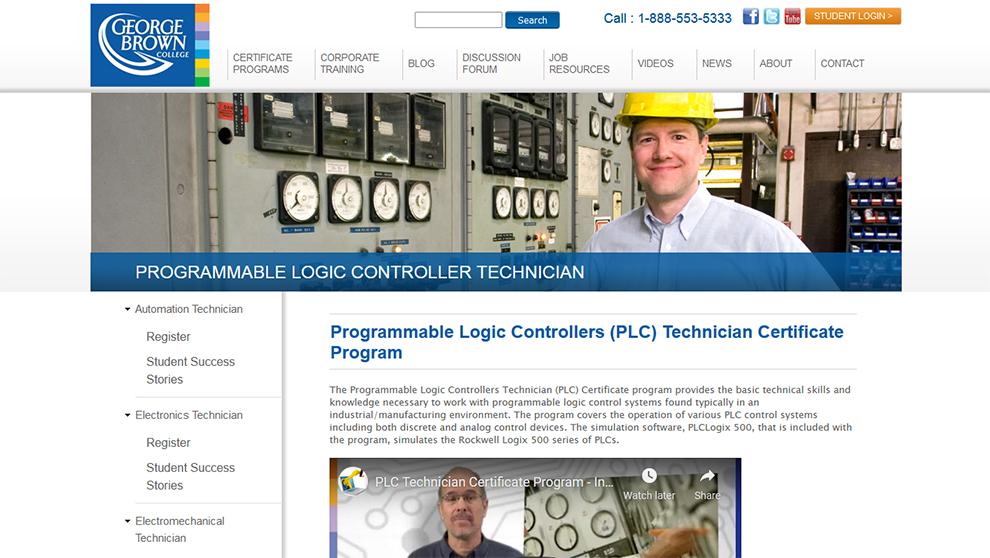 Programmable Logic Controllers Technician Certificate Program