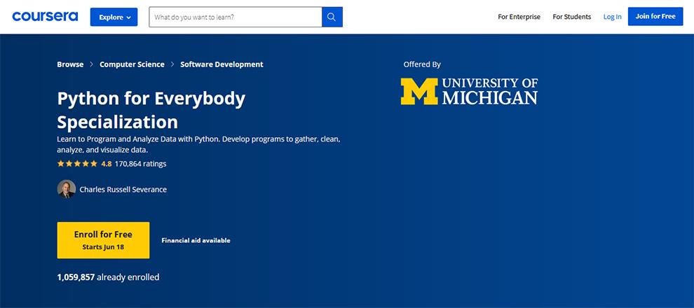 Python for Everybody Specialization