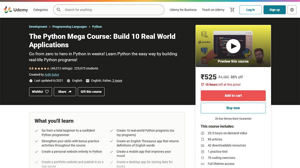 The Python Mega Course