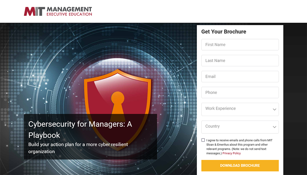 Cybersecurity for Managers