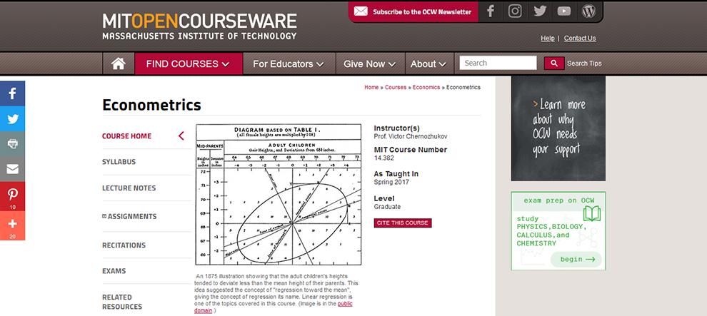 Econometrics - MIT OpenCourseware
