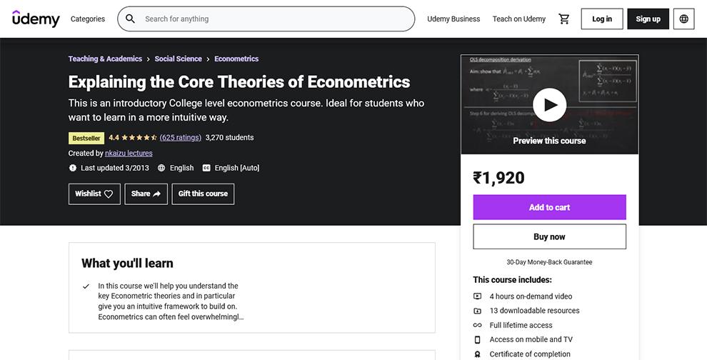 Explaining the Core Theories of Econometrics
