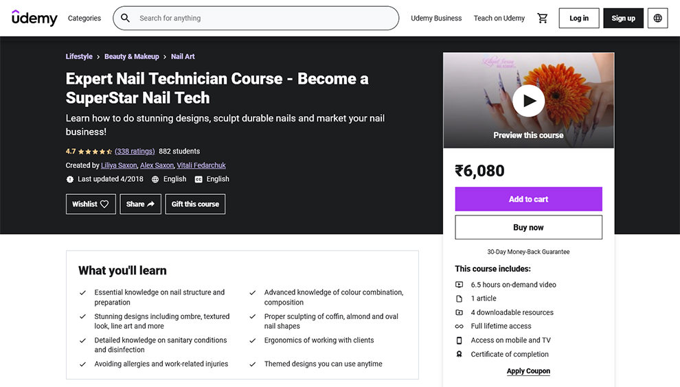 Expert Nail Technician Course