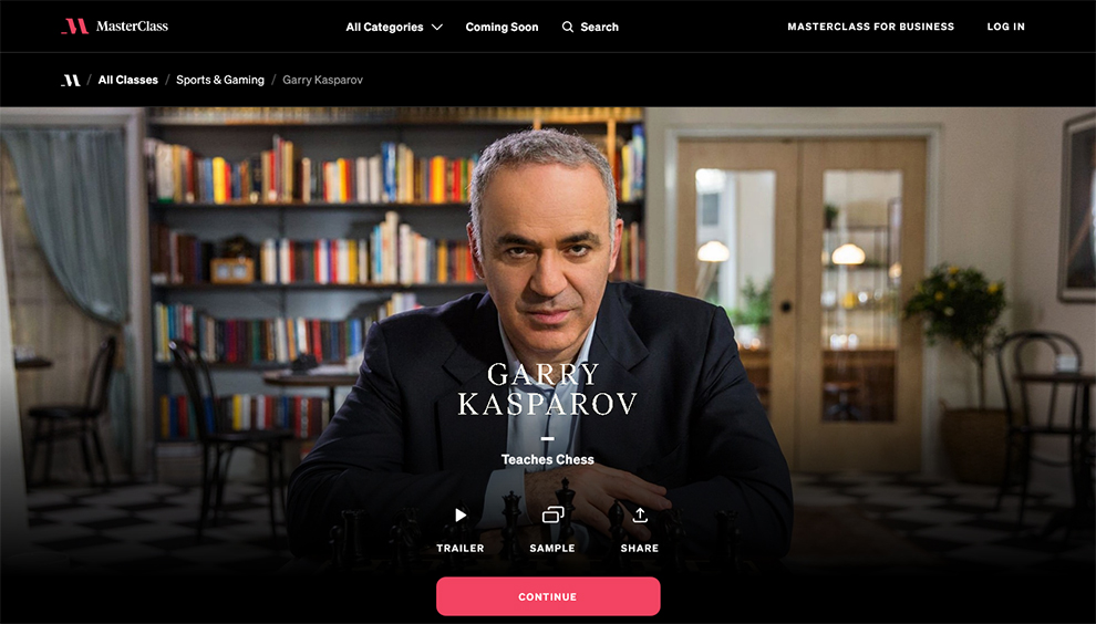 Garry Kasparov Teaches Chess
