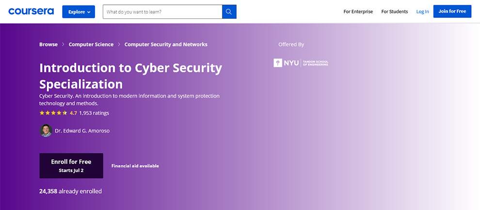 Introduction to Cyber Security Specialization