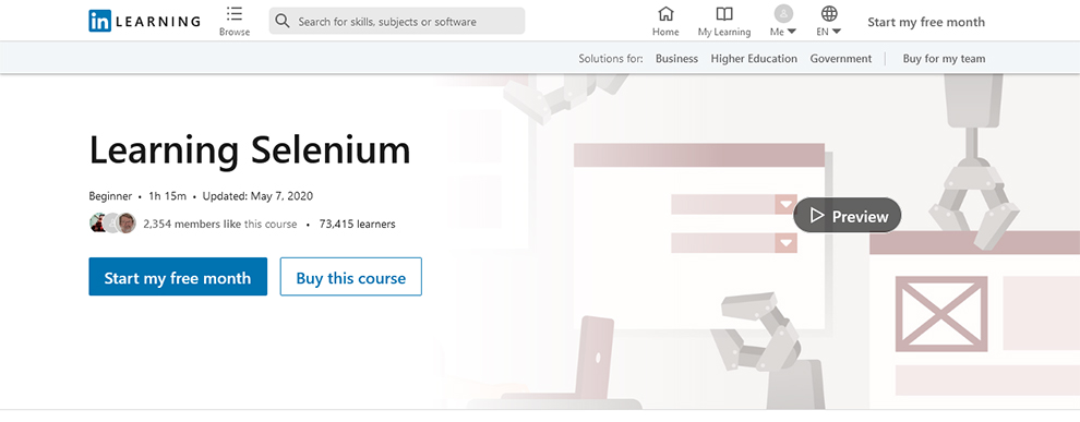 Learning Selenium