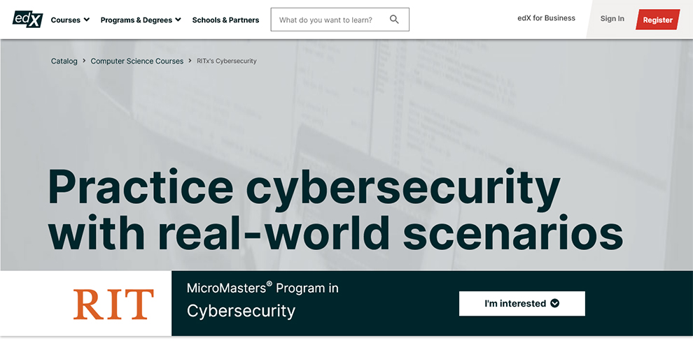 MicroMasters® Program in Cybersecurity