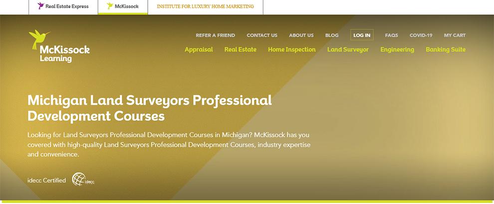 Michigan Land Surveyors Professional Development Courses