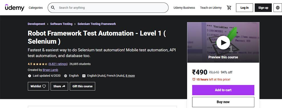 Robot Framework Test Automation - Level 1