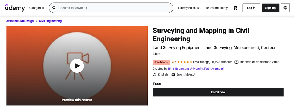 Surveying and Mapping in Civil Engineering