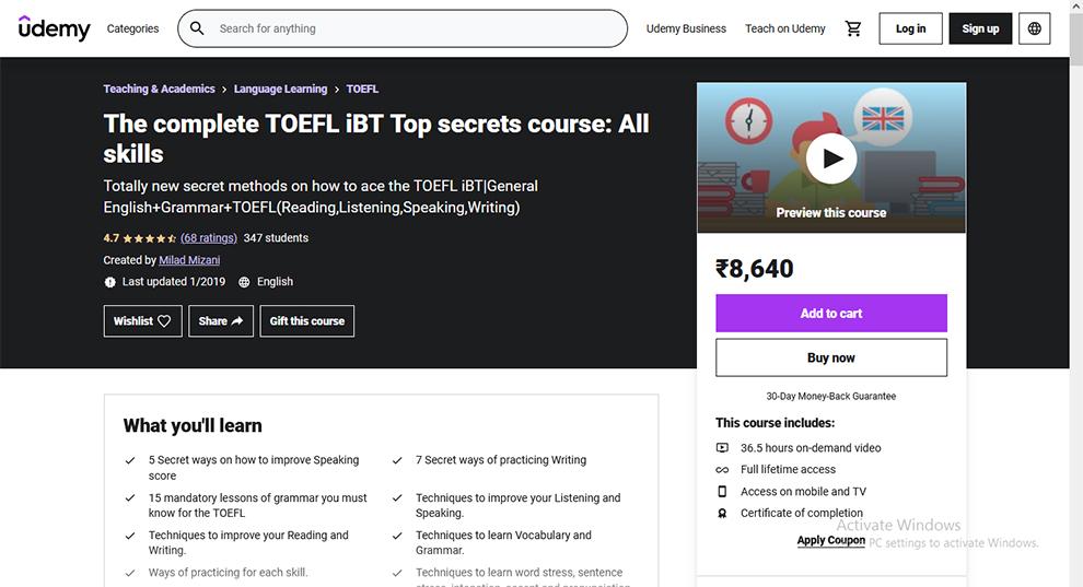 The complete TOEFL iBT Top secrets course