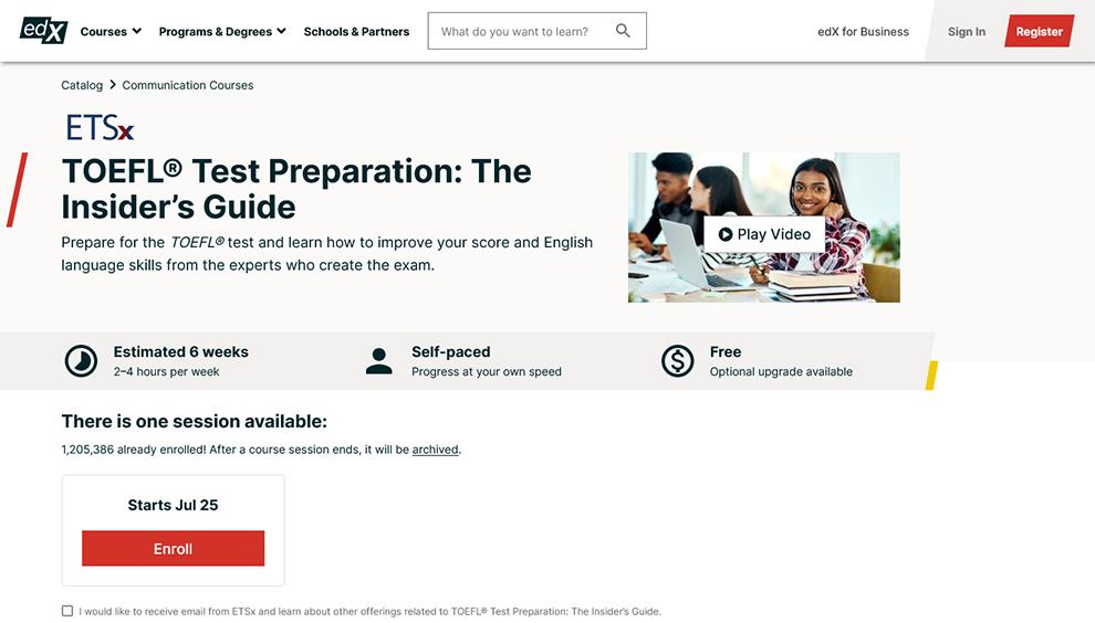 TOEFL® Test Preparation