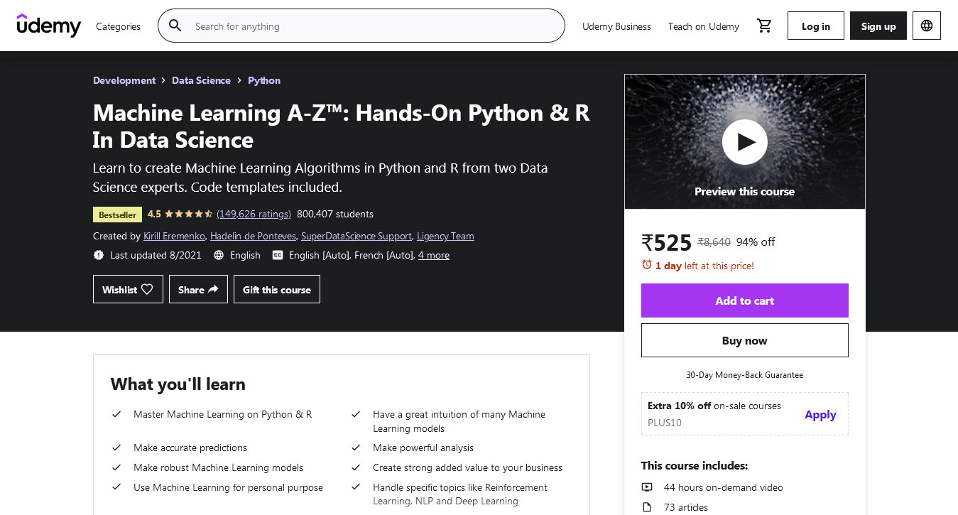 Machine Learning A-Z™