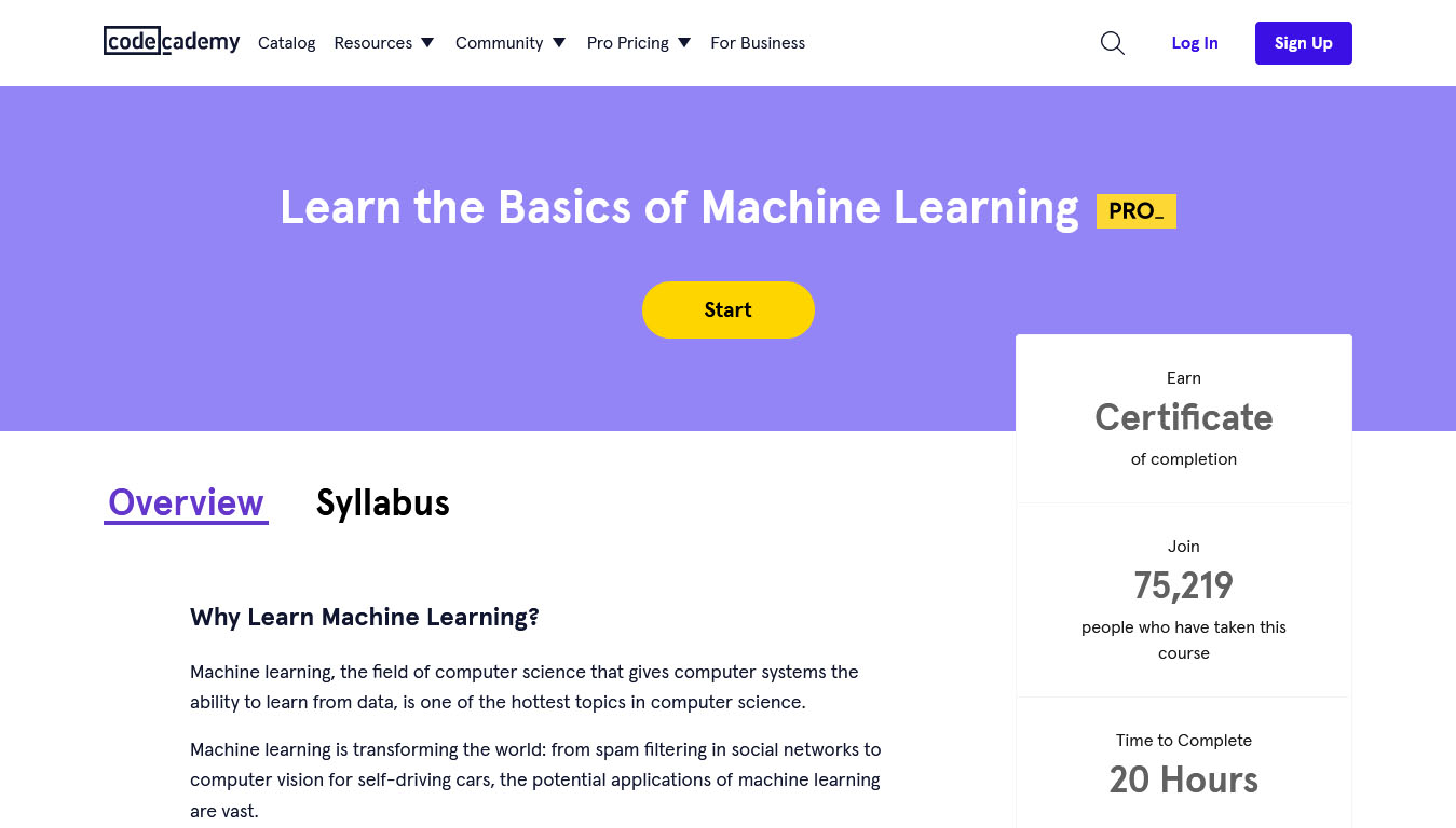 Learn the Basics of Machine Learning