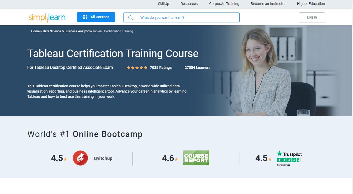 Tableau Certification Training Course