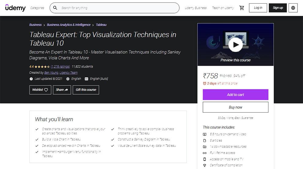 Tableau Expert: Top Visualization Techniques in Tableau 10