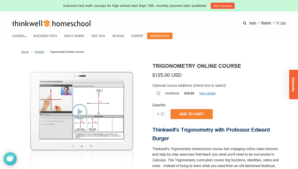 Trigonometry Online Course