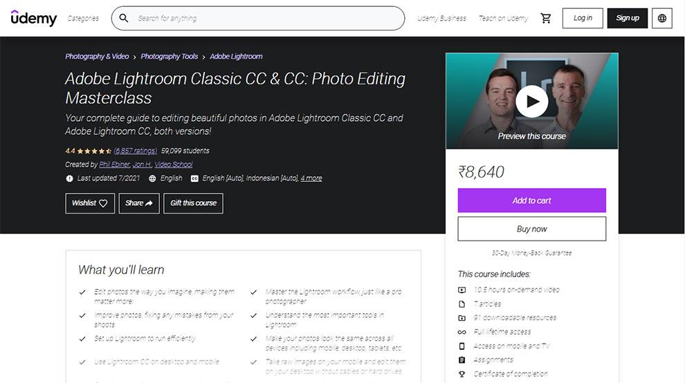 Adobe Lightroom Classic CC & CC: Photo Editing Masterclass