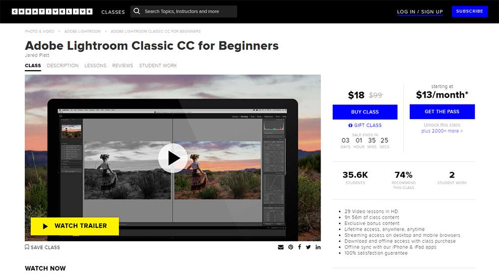 Adobe Lightroom Classic CC for Beginners