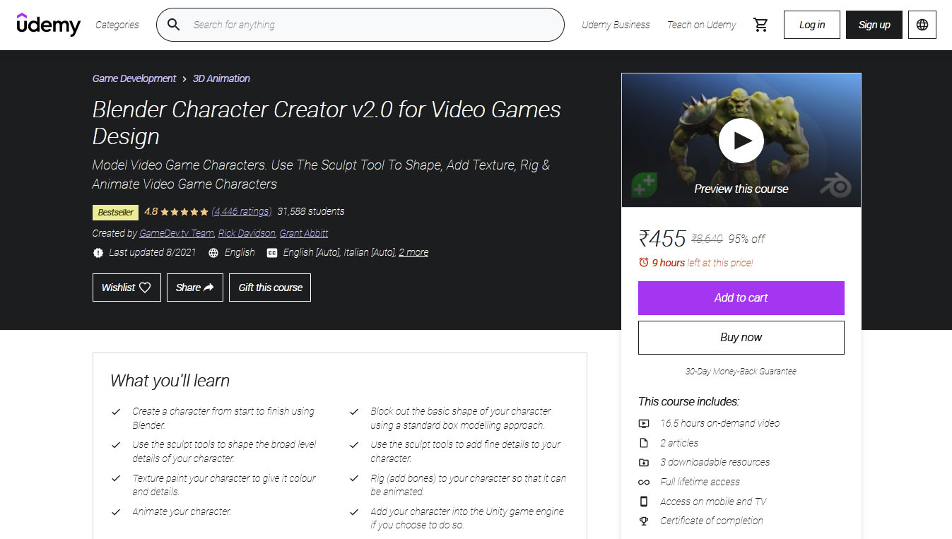 Blender Character Creator v2.0 for Video Games Design