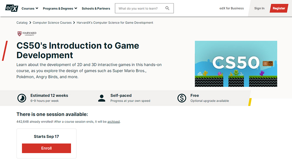 CS50's Introduction to Game Development