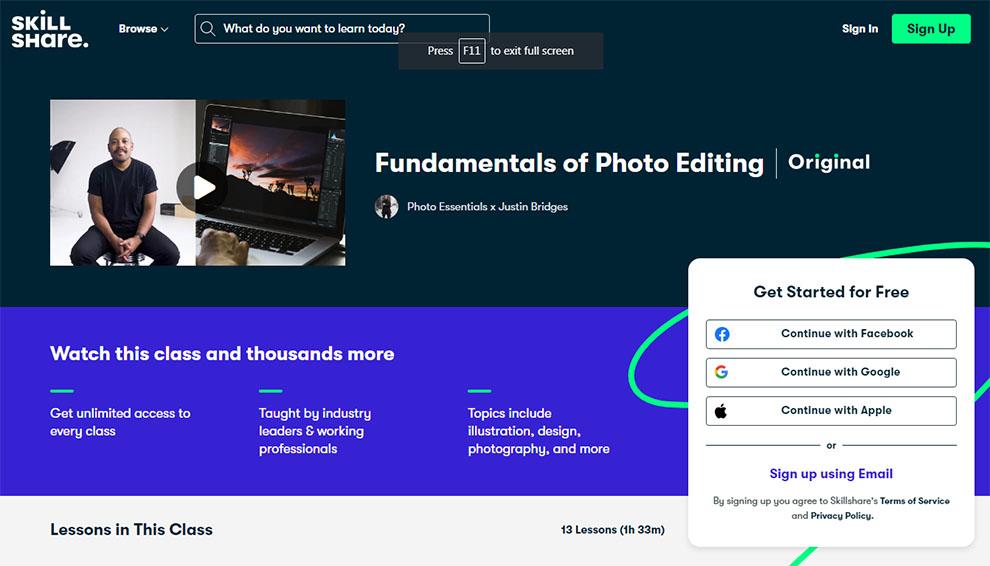 Fundamentals of photo editing