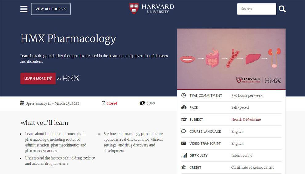 HMX Pharmacology – by Harvard University