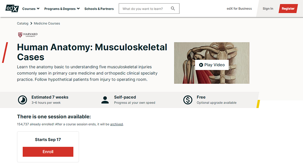 Human Anatomy: Musculoskeletal Cases
