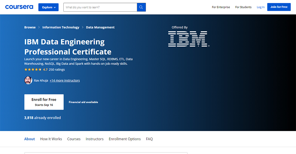 IBM Data Engineering Professional Certificate