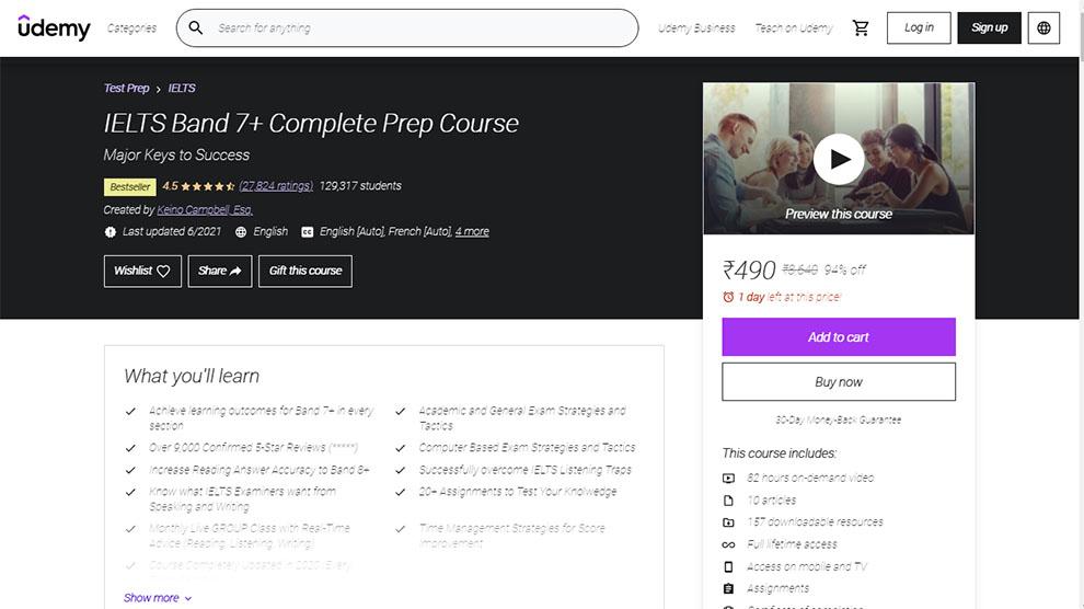 IELTS Band 7+ Complete Prep Course