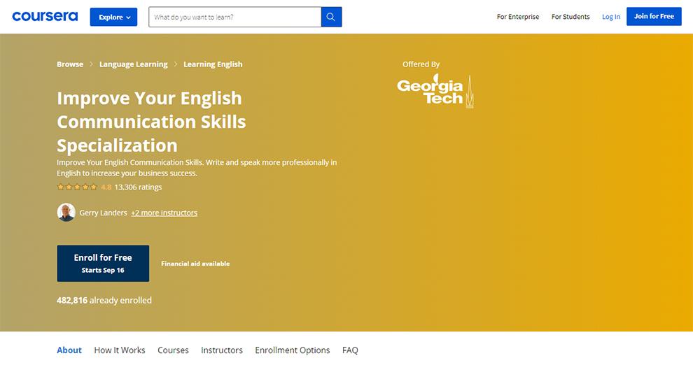 Improve Your English Communication Skills Specialization