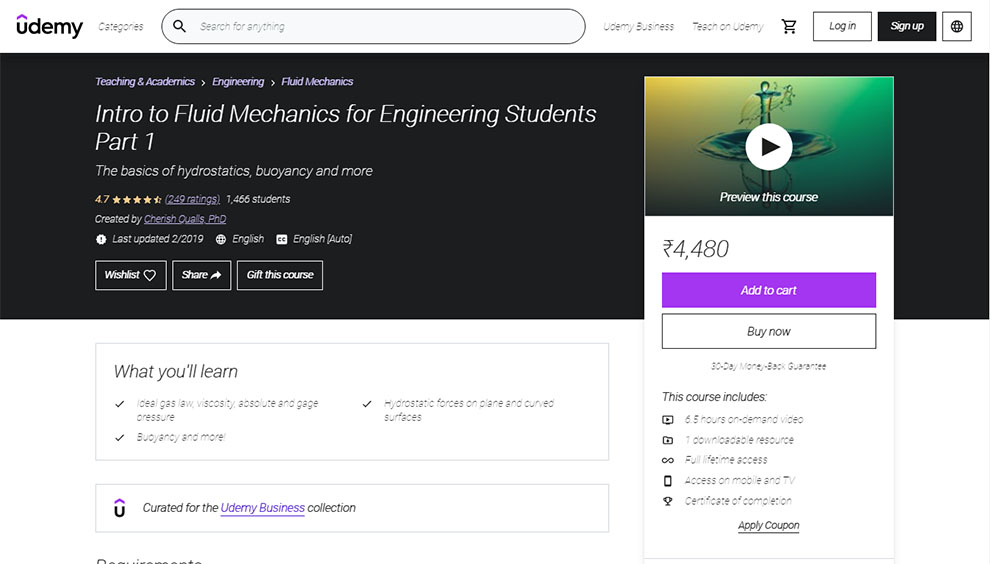 Intro to Fluid Mechanics for Engineering Students Part 1
