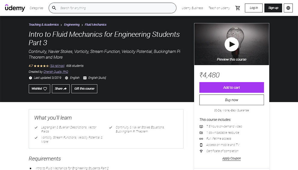 Intro to Fluid Mechanics for Engineering Students Part 3