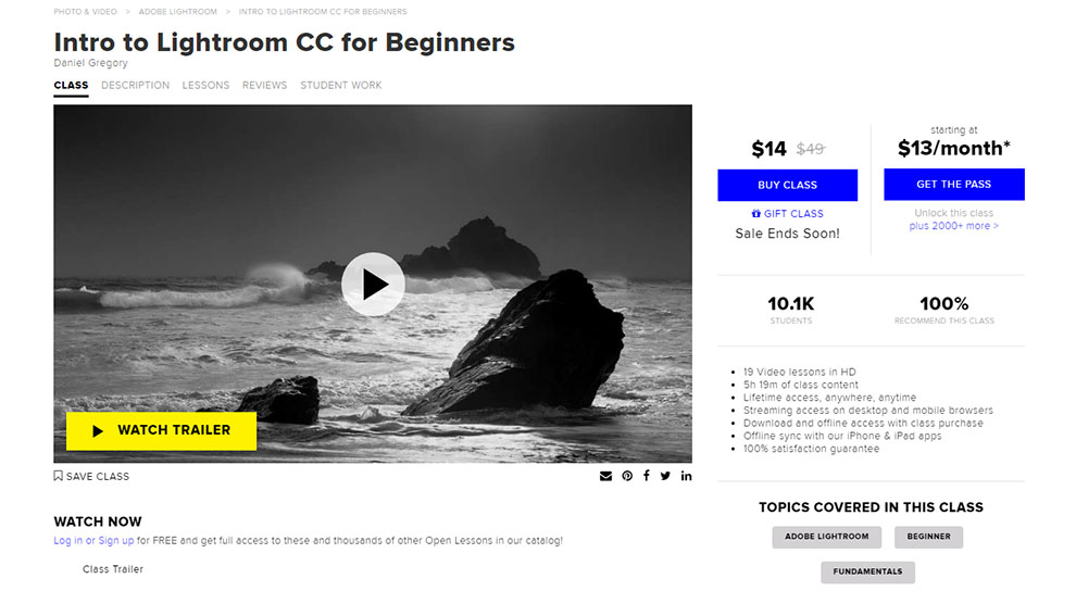 Intro to lightroom CC for beginners