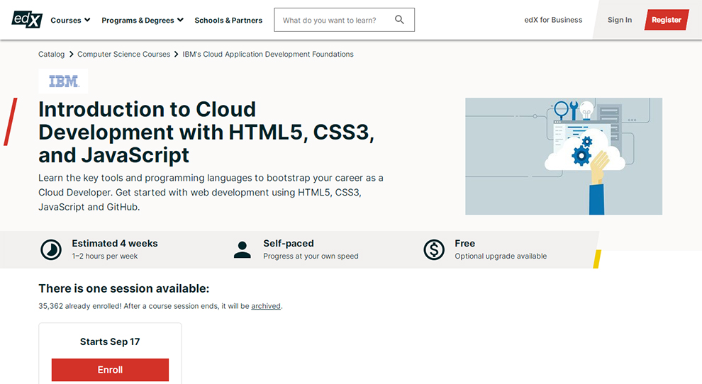 Introduction to Cloud Development with HTML5, CSS3, and JavaScript