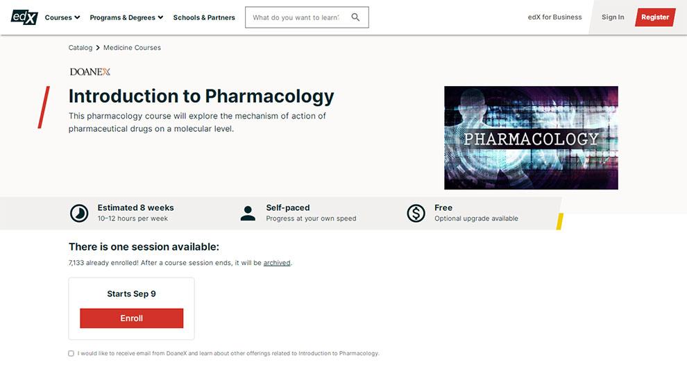 Introduction to Pharmacology – by Doane University