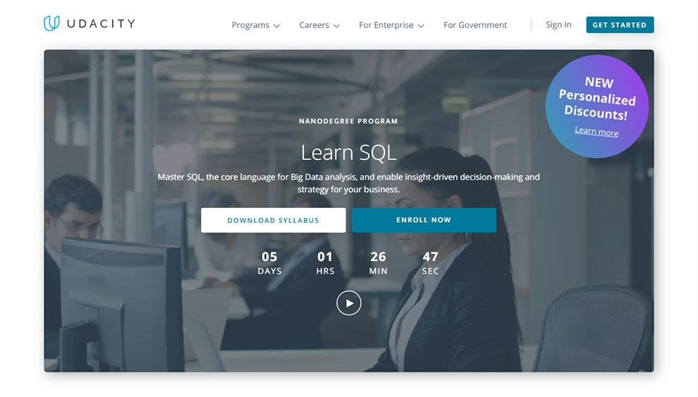 Learn SQL – NanoDegree Program