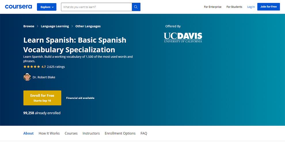 Learn Spanish: Basic Spanish Vocabulary Specialization
