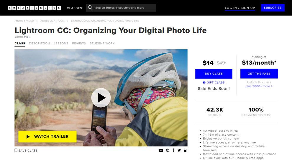 Lightroom CC: Organising your digital photo life