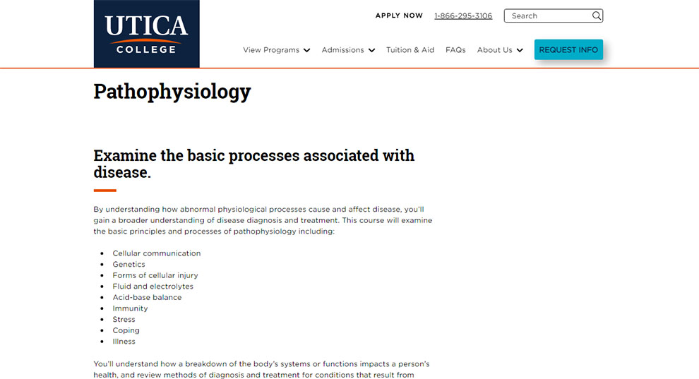 NUR 332 Pathophysiology - [Utica College]