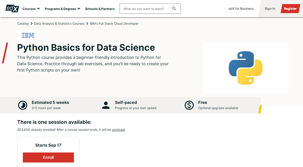 Python Basics for Data Science