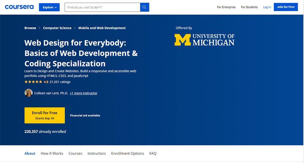 Web Design for Everybody: Basics of Web Development & Coding Specialization