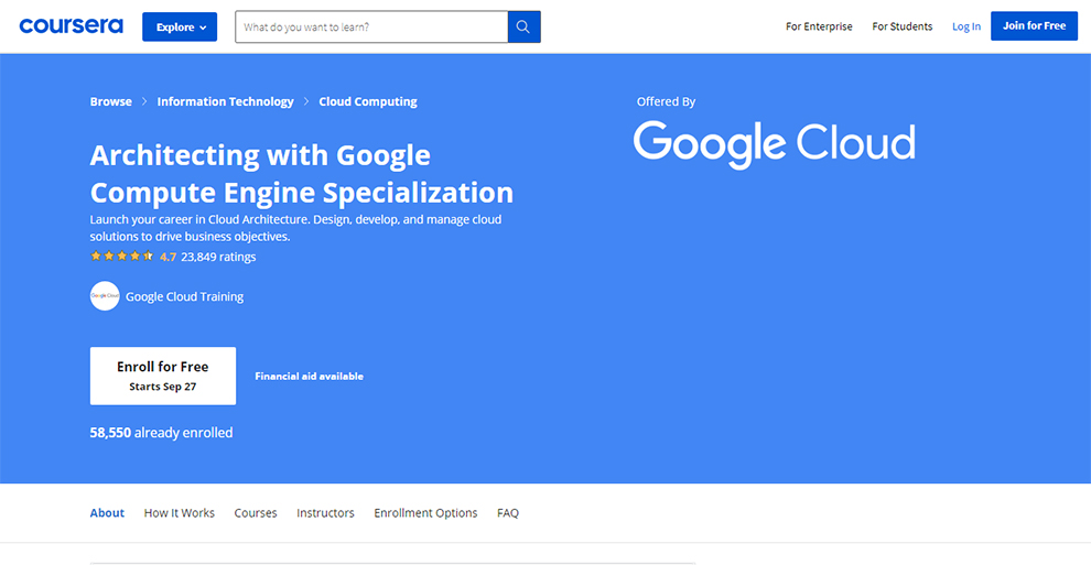 Architecting with Google Compute Engine Specialization