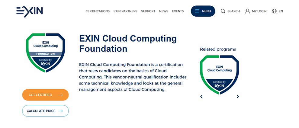 EXIN Cloud Computing Foundation
