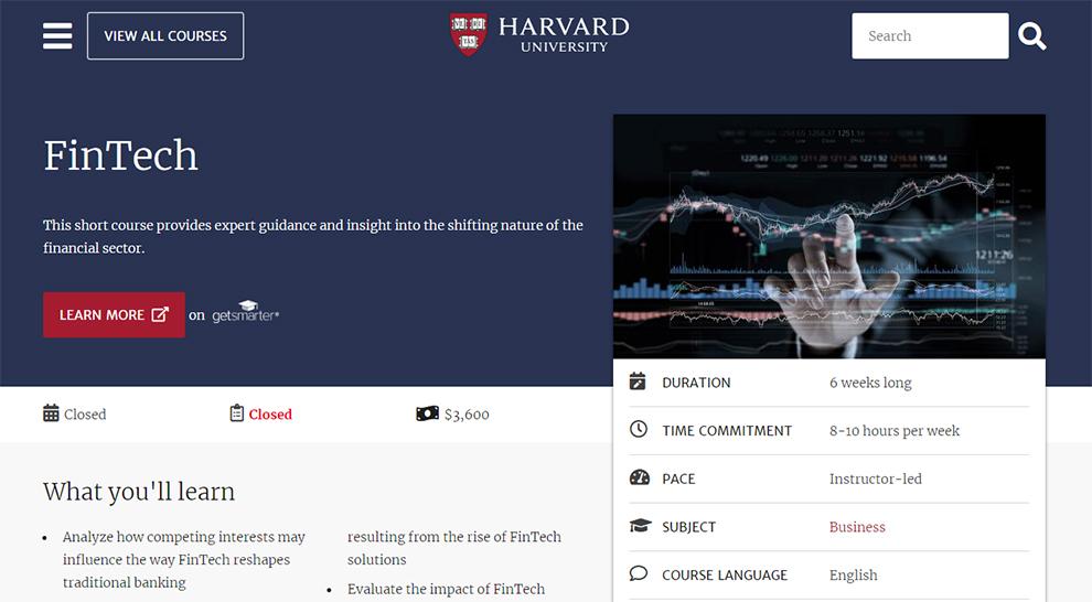 FinTech by Harvard University