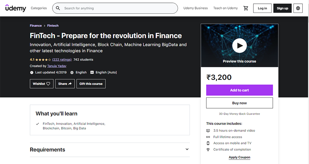 FinTech – Prepare for the revolution in Finance