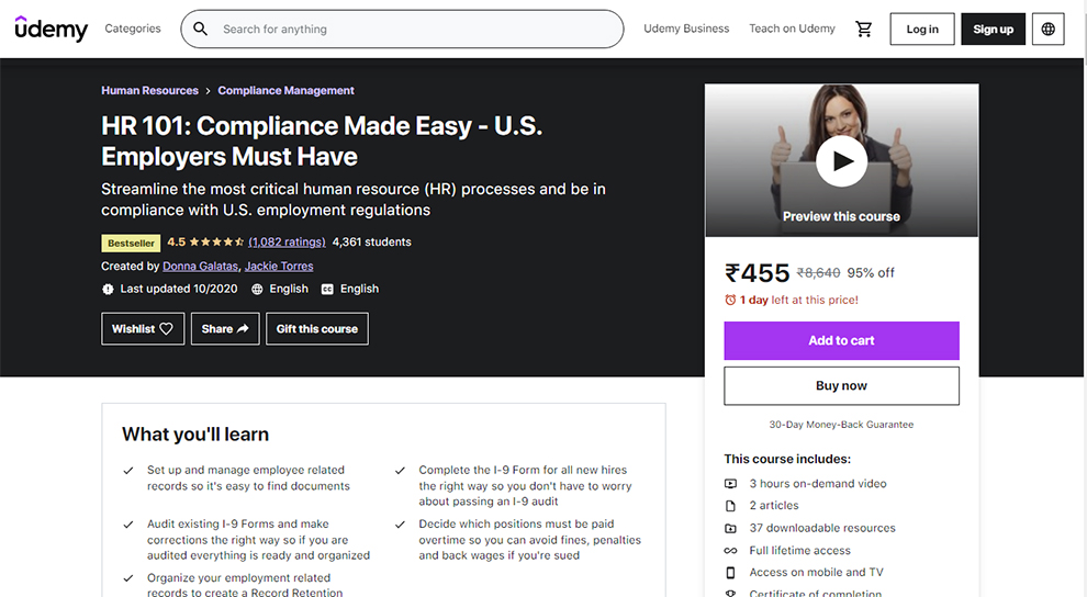 HR 101: Compliance Made Easy - U.S. Employers Must Have