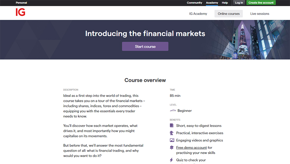 Introducing the financial markets