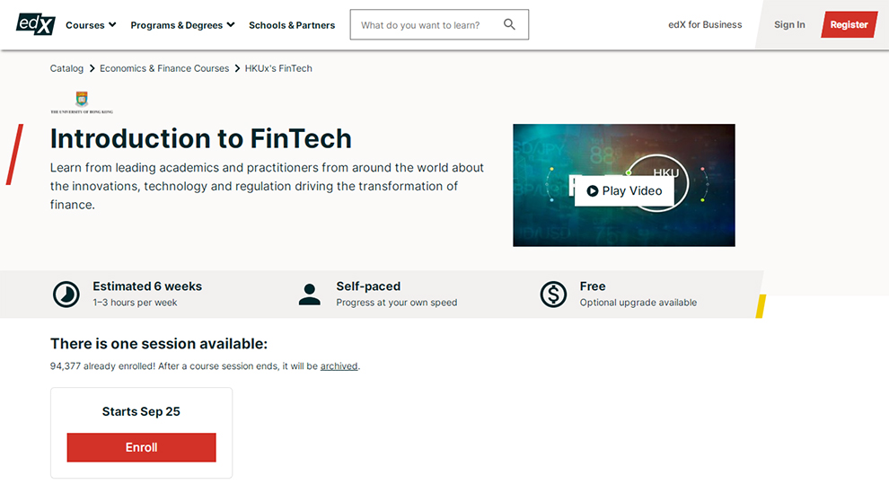 Introduction to FinTech (University of Hong Kong)