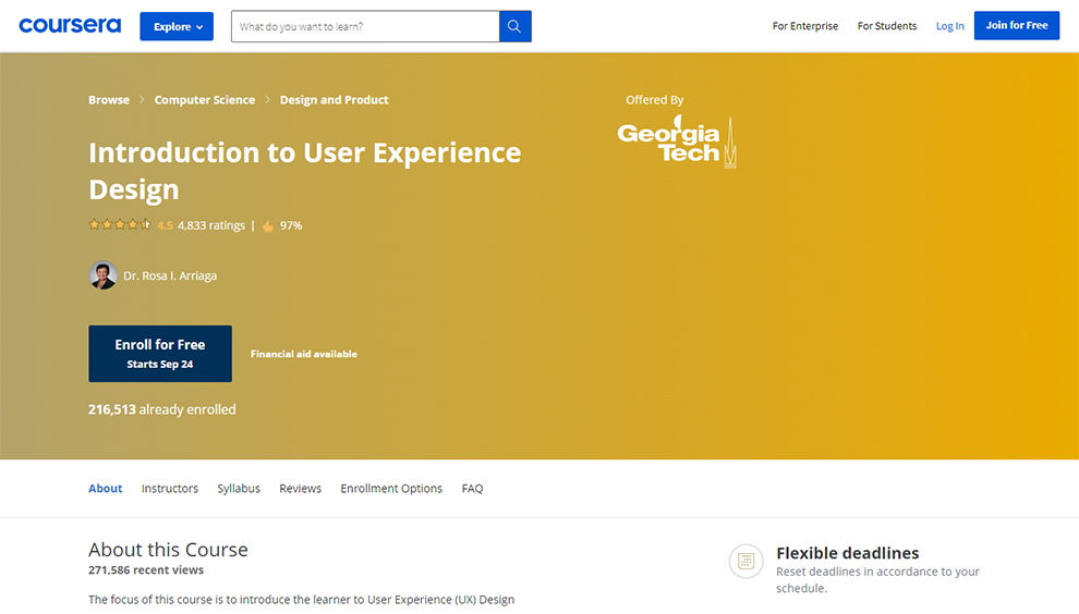 Introduction to User Experience Design by Georgia Tech